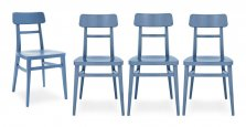 Connubia Calligaris set of 4 chairs Milano CB/1284 - Sky Blue