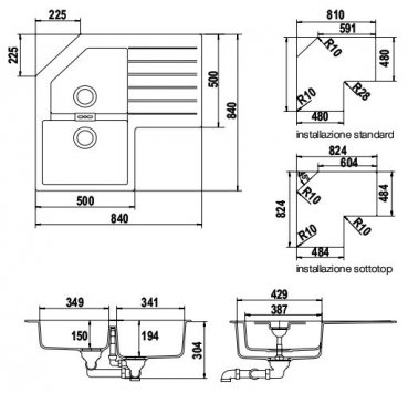 schock primus c200 ap synthetische sinkt. Black Bedroom Furniture Sets. Home Design Ideas