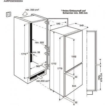 electrolux fi22 13dv k hlschr nke eingebaute. Black Bedroom Furniture Sets. Home Design Ideas