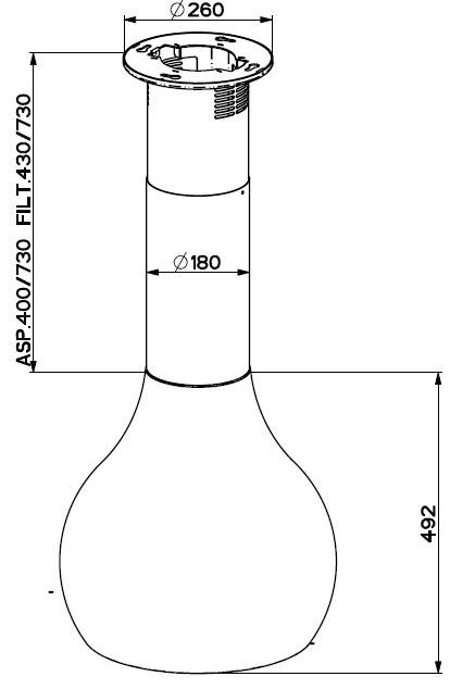 faber drop eg8 bkl a48 inselhauben. Black Bedroom Furniture Sets. Home Design Ideas