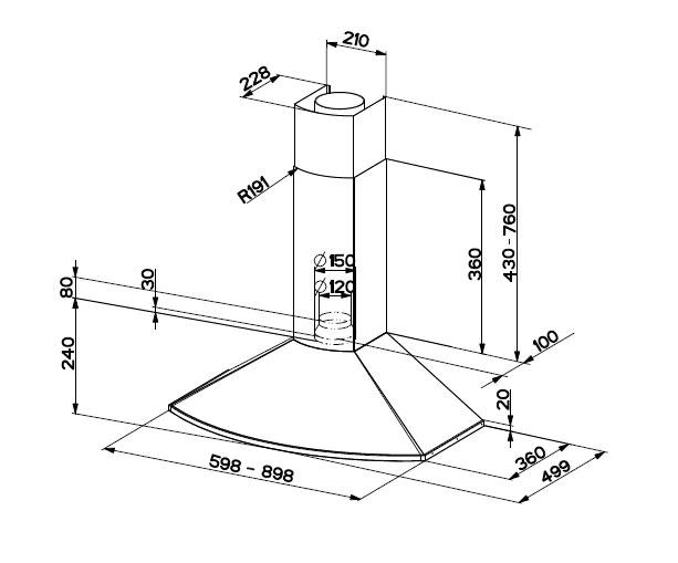 faber abzugshaube dch23 900mm wandhauben. Black Bedroom Furniture Sets. Home Design Ideas