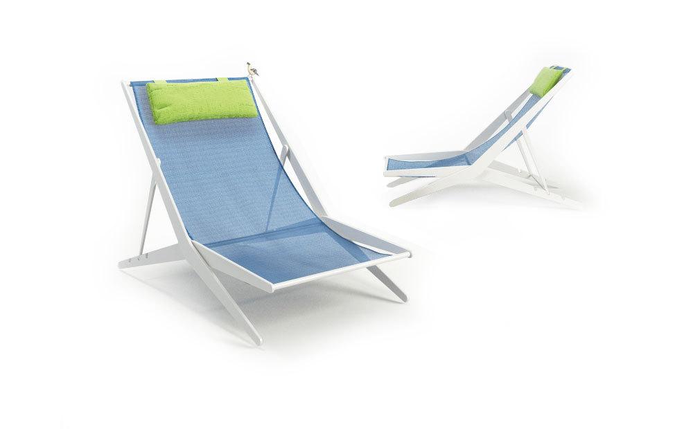 Coro 2 Boomy Liegestühle Satz mit Kopfstütze - Set Gartenmöbel