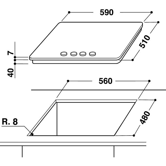 whirlpool gma 6411 wh gas kochfelder. Black Bedroom Furniture Sets. Home Design Ideas