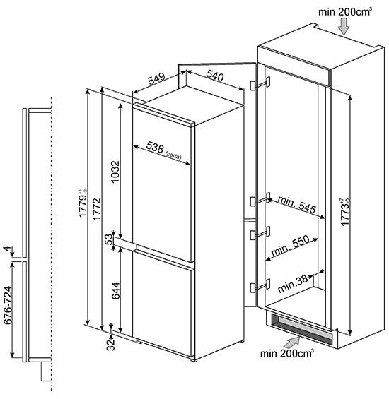 smeg c3170f2p k hlschr nke eingebaute. Black Bedroom Furniture Sets. Home Design Ideas
