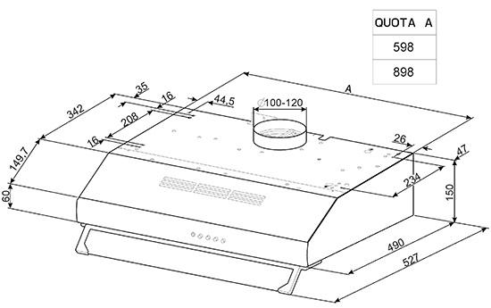 smeg ksec91xe einbauhauben. Black Bedroom Furniture Sets. Home Design Ideas
