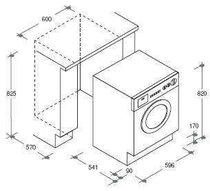 Candy cdb 485 dn 1 s w schetrockner eingebaute for Medidas de lavadoras