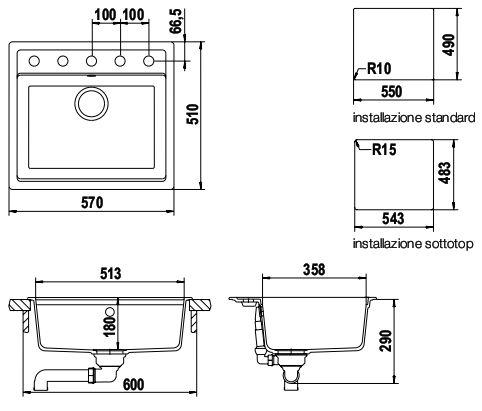 schock nemo n100 synthetische sinkt. Black Bedroom Furniture Sets. Home Design Ideas