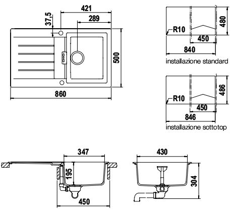 schock signus d100a synthetische sinkt. Black Bedroom Furniture Sets. Home Design Ideas