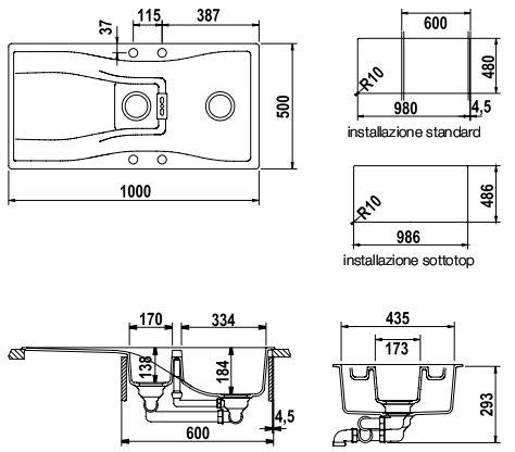 schock waterfall d150a synthetische sinkt. Black Bedroom Furniture Sets. Home Design Ideas