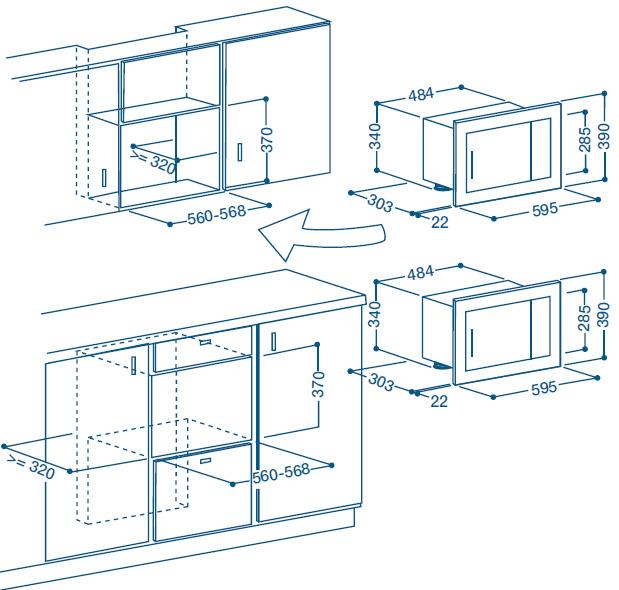 Indesit mwi 12 ix mikrowelle eingebaute for Eingebaute mikrowelle