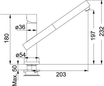 franke planar 8 doccia 0737941 k chenarmaturen. Black Bedroom Furniture Sets. Home Design Ideas