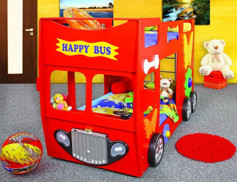 plastiko happy bus betten. Black Bedroom Furniture Sets. Home Design Ideas