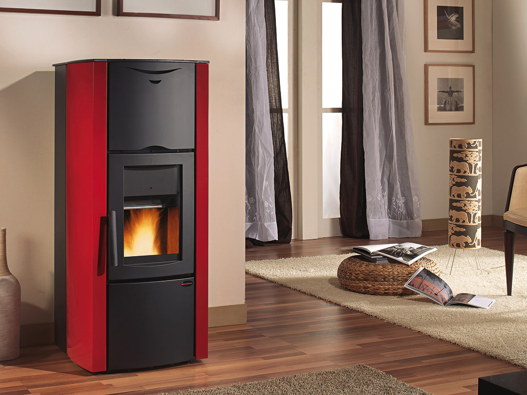 extraflame lucrezia idro steel bordeaux thermo fen zu pellet. Black Bedroom Furniture Sets. Home Design Ideas