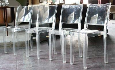 Kartell set mit 4 Stühle La Marie