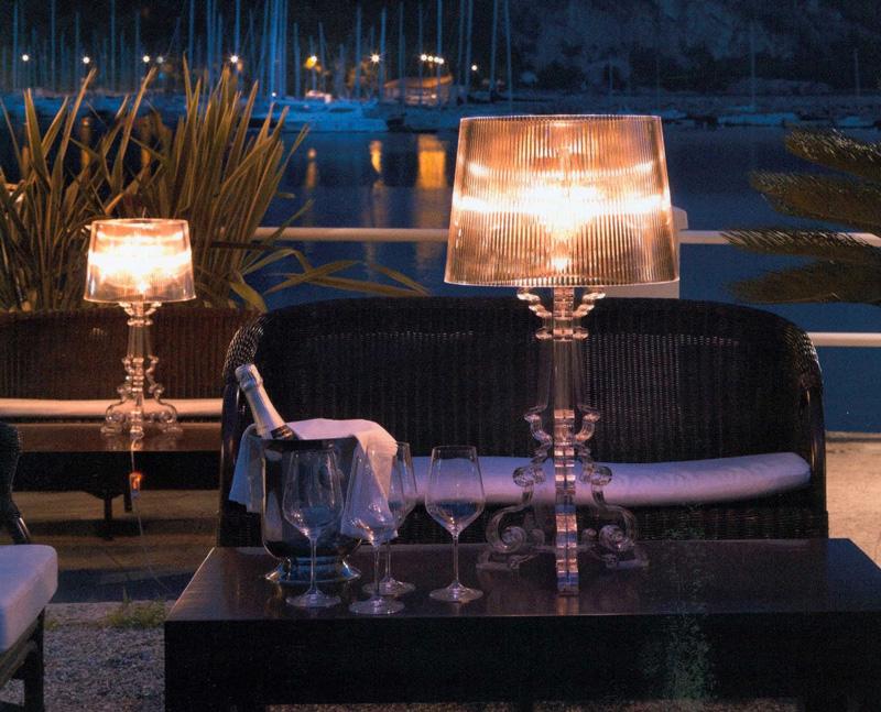 Kartell Bourgie 9070 B4 Cristallo Tischlampen