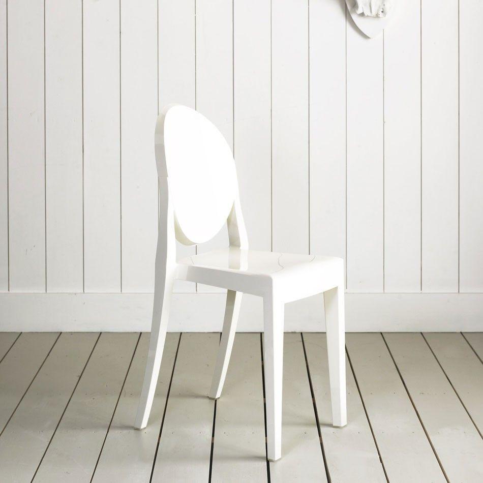 Kartell Set mit 4 Stühle Victoria Ghost