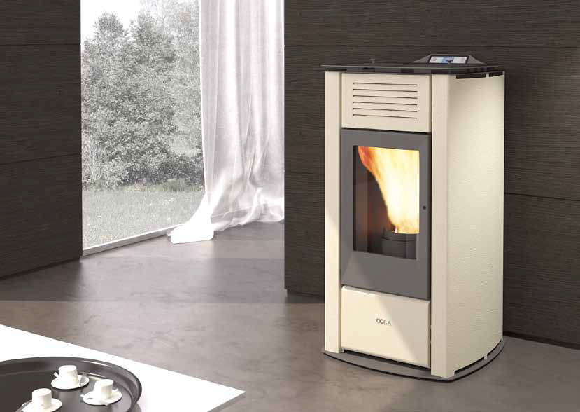 Anselmo Cola Termo Focus HR Stahl - Thermoöfen zu pellet