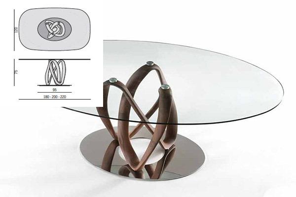 porada infinity ovale c infinity oval c tische. Black Bedroom Furniture Sets. Home Design Ideas