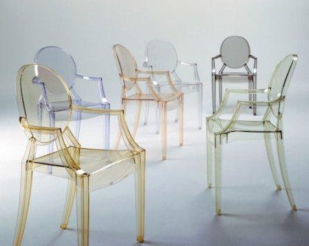 Kartell set mit stühle louis ghost set stühle