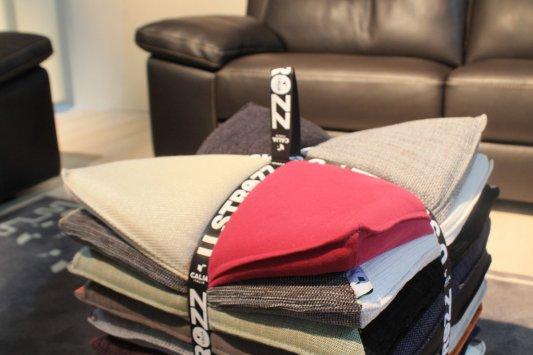 calia italia u strozz pouf and pillow. Black Bedroom Furniture Sets. Home Design Ideas