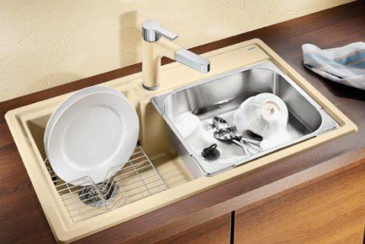 Blanco Accessories : Blanco PLENTA with accessories - PLENTA con accessori - Synthetic Sink