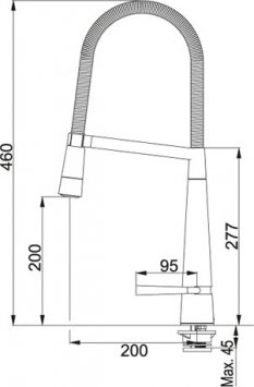 Franke Diapason Doccia - 0737505 - Kitchen Faucet