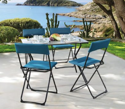 lafuma anytime gm outdoor table. Black Bedroom Furniture Sets. Home Design Ideas