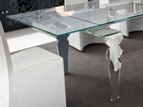 Tonin casa table extensible vendome 8005 p t8005 p table - Petite table extensible ...