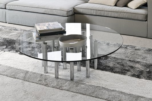 Bonaldo mille coffee table for Table extensible quadrato