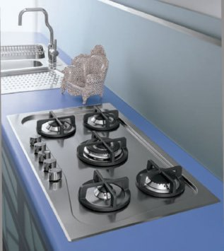 Foster by Alessi - piano cottura 7260 032 incasso standard - Gas hob
