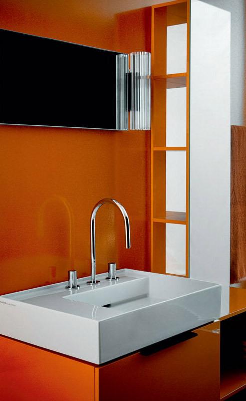 Kartell by Laufen Medium cabinet with mirror 4.0810.0 - Furniture Set