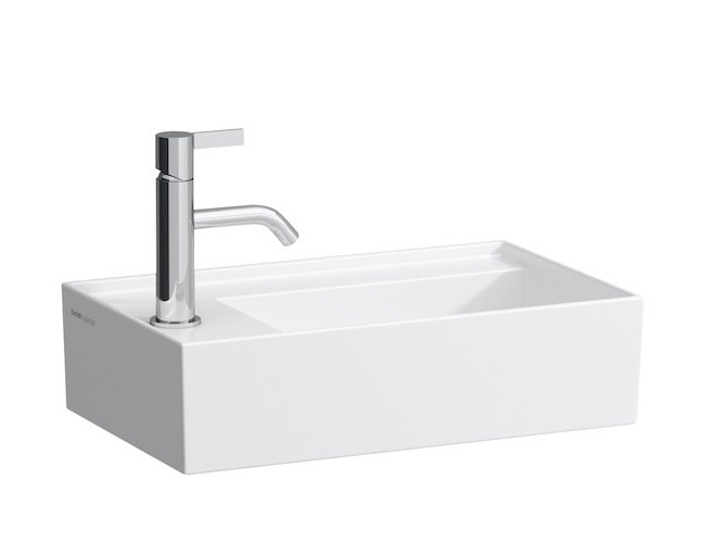 Kartell By Laufen Small washbasin 8.1533.5 - left - Surface-mounted ...