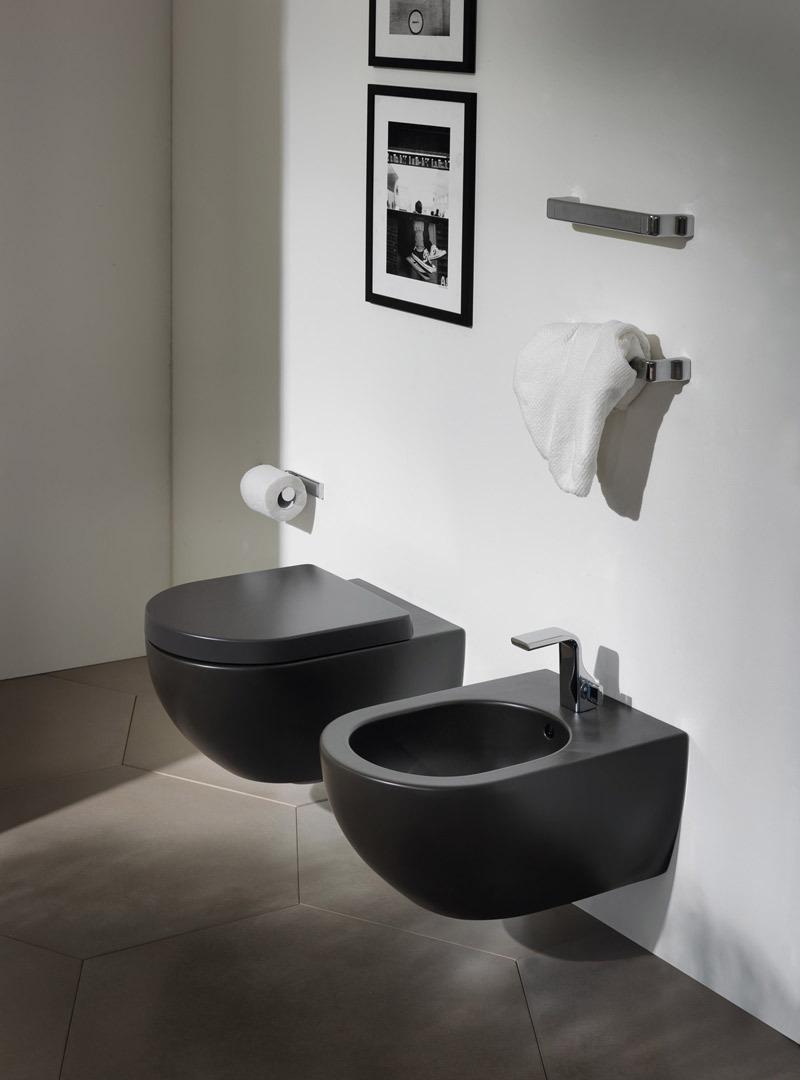 Flaminia set app ap118g ap218 goclean set toilets and bidet - Sanitari bagno sospesi neri ...