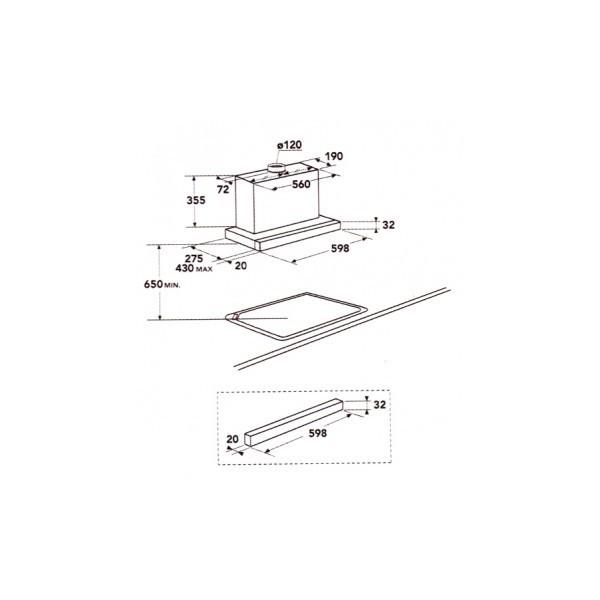aeg df6160ml under cabinet range hood. Black Bedroom Furniture Sets. Home Design Ideas