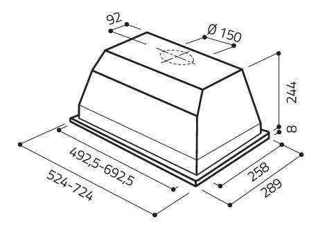 Elica elibloc ht gr a 80 under cabinet range hood - Campana extractora 80 cm ...
