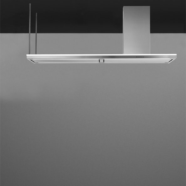 Falmec design lumen isola 175 cm island hood for Cappa virgola falmec