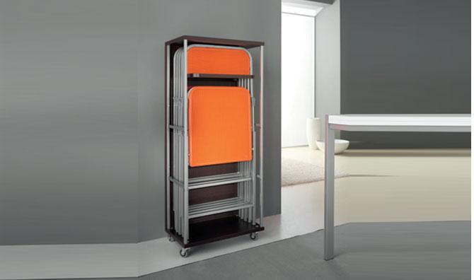 Mobile Porta Sedie Pieghevoli.Connubia Calligaris Sweet Cb 5065 Space Saving
