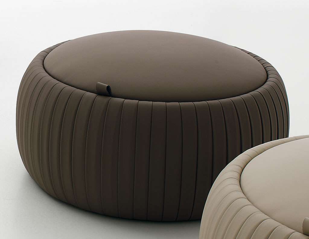Tonin Casa Pouf Pliss 232 7335 P Pouf And Pillow