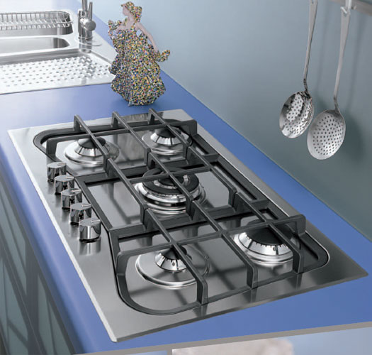 Foster by Alessi - piano cottura 7260 037 incasso standard - Gas hob