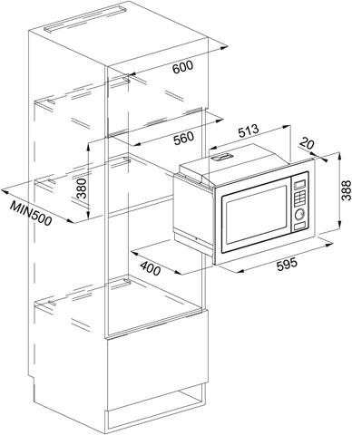 Franke crystal fmw 250 cr2 g bk microwave built in - Mueble para microondas ...