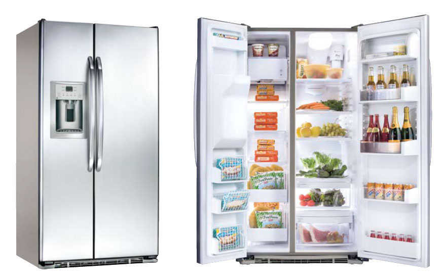 general electric gce 23 xgf ls side by side refrigerator. Black Bedroom Furniture Sets. Home Design Ideas
