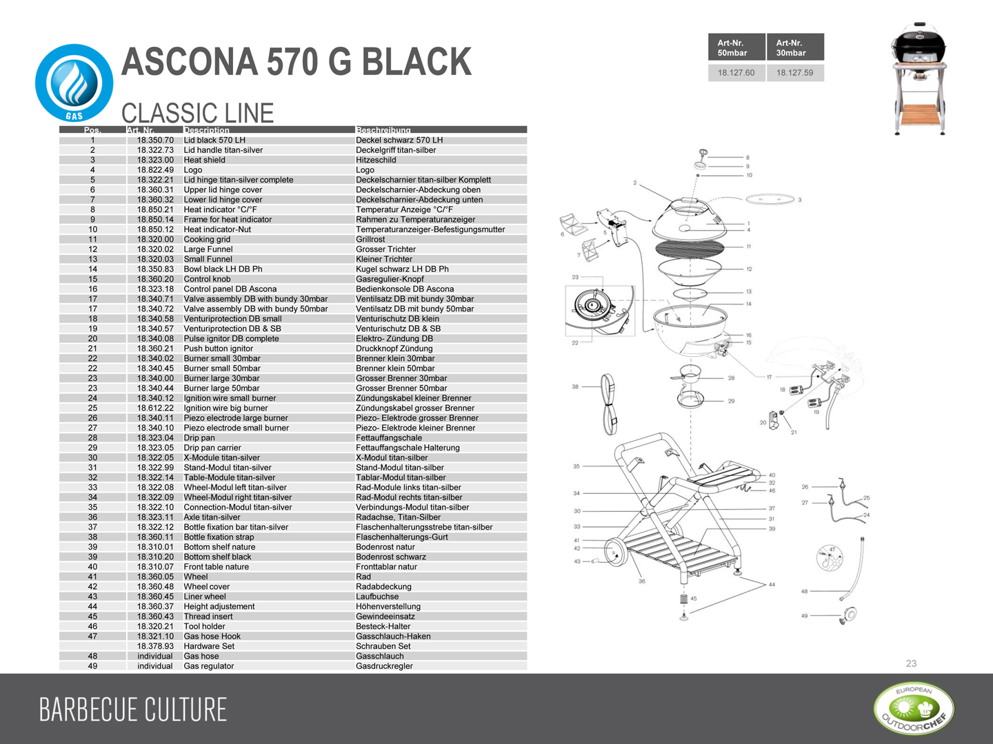 outdoorchef ascona 570 g black gas grill. Black Bedroom Furniture Sets. Home Design Ideas