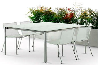 Coro tavolo shot outdoor table for Table extensible quadrato