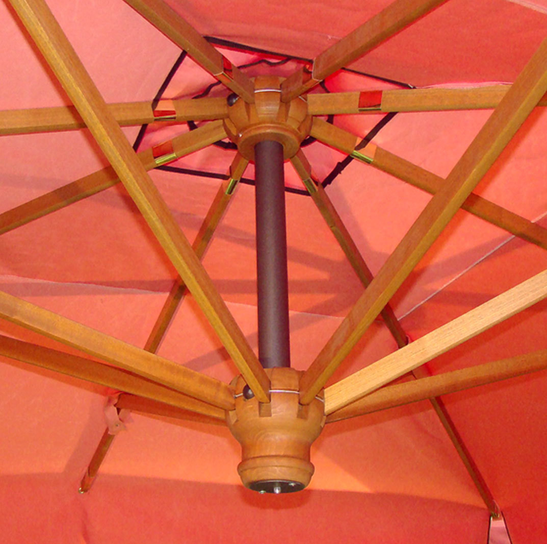 il parco de luxe wood patio umbrella. Black Bedroom Furniture Sets. Home Design Ideas