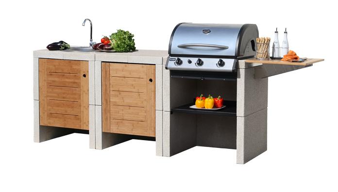 Sunday melody 3 grill outdoor kitchen - Cucina per esterno ...