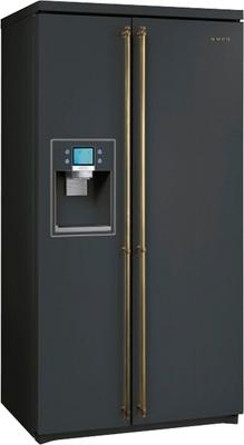 smeg sbs8003ao side by side refrigerator. Black Bedroom Furniture Sets. Home Design Ideas