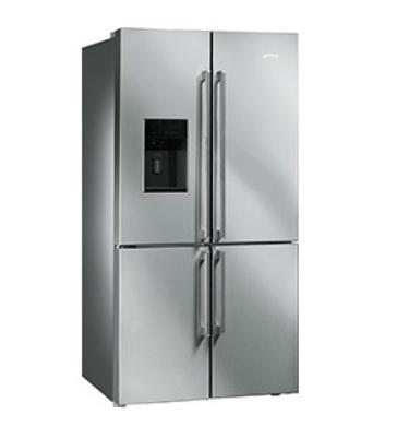 smeg fq75xped side by side refrigerator. Black Bedroom Furniture Sets. Home Design Ideas