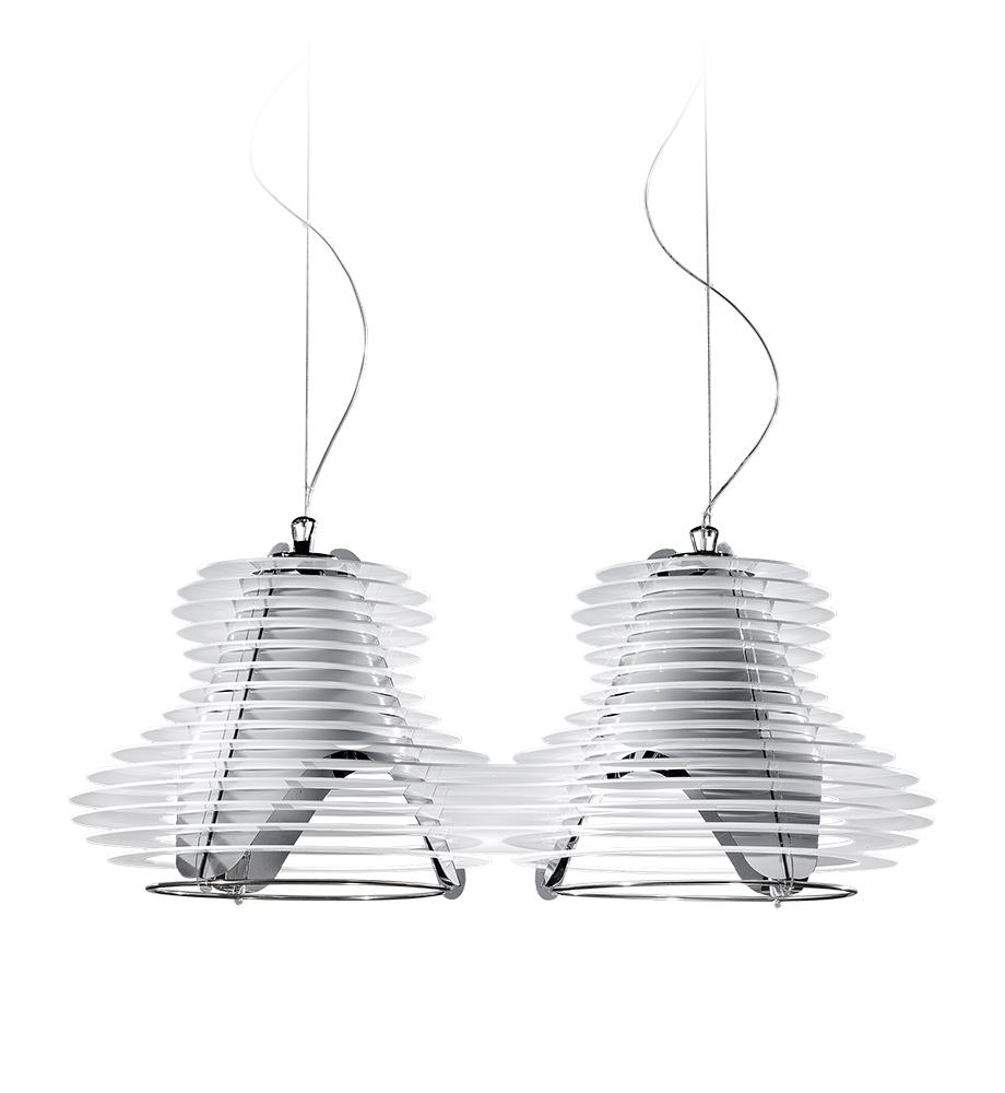 Slamp faretto suspension double pendant lamp for Suspension double