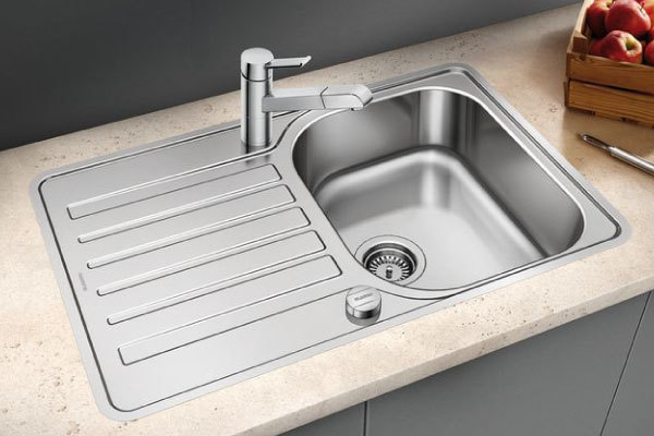 blanco lantos 45 s if compact stainless steel sink. Black Bedroom Furniture Sets. Home Design Ideas