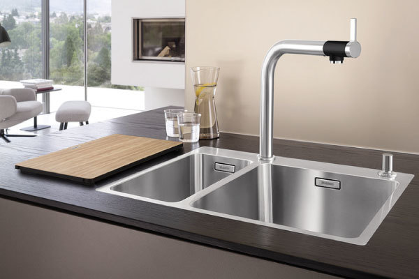 blanco andano 500 180 u sx stainless steel sink. Black Bedroom Furniture Sets. Home Design Ideas